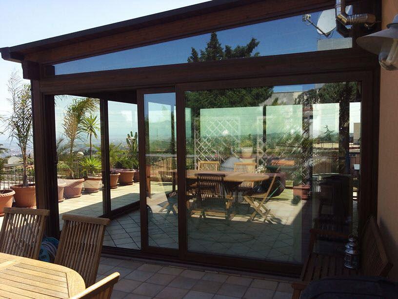 Interesting veranda in alluminio a taglio termico colore for Bocchio serramenti